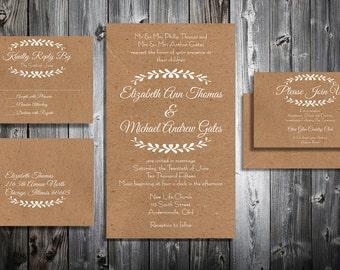 Downloadable Wedding Invitation Kit