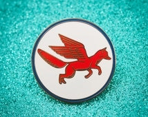 Fox Wings enamel Pin brooch