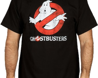 Ghostbusters Distressed 2016 Ghosts Slimer Mr Stay Puff  T-Shirt