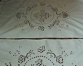 wonderful antique Richelieu embroidery curtains