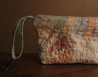 Antique Quilt Zipper Pouch