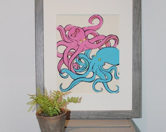 Tangled Octopus Print