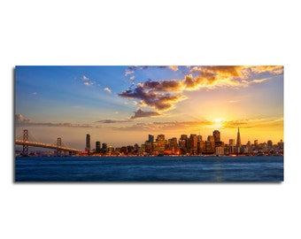 Beautiful San Francisco Skyline HD Canvas
