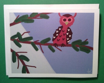 Owl notecards - set of 6 notecards with envelopes