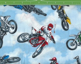 La Cross  Motor Bikes,In Clouds, Timeless Treasures