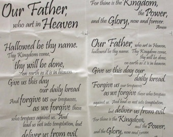 The Lords Prayer,Wall Hanging,Lap Throw,Pillow Case