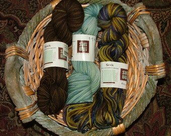 Lot of 3 skeins of Shibuiknits Sock Superwash Merino Yarn Made in Peru Crochet Knit
