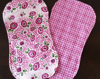Flannel Contour Burp Cloth- Girl (options available)