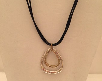 Double Teardrop Pendant Necklace/Pendant