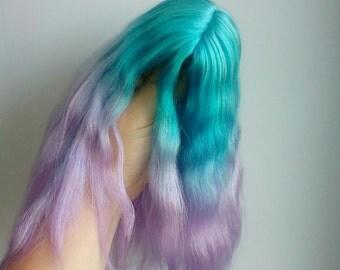 Long angora wig for BJD