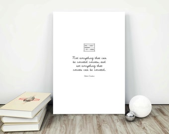 Albert Einstein Quote - Digital Download Art