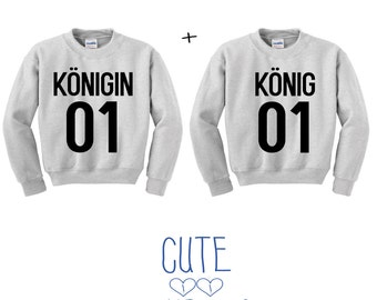 King & Queen Couple hoddie sweater friends