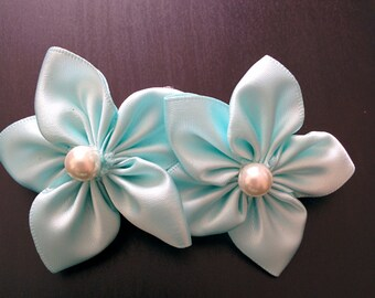 Double Kanzashi flowers