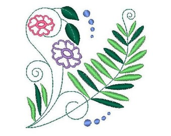 Jacobean Ferns  ( 15 Machine Embroidery Designs from ATW ---> 2 are 5x7 / 13 ar 4.4 )
