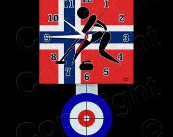 Curling Clock with Pendulum • Norway Curling • Curling Team