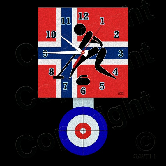 Curling Clock with Pendulum • Norway Curling • Curling Team