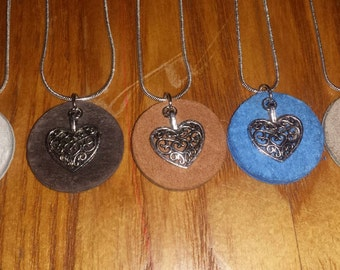 Essential Oil Diffuser Heart Necklace