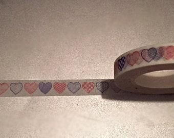 Heart Printed Skinny Washi Tape