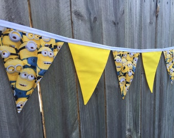 Handmade Minion kids bunting bedroom decor room accessories