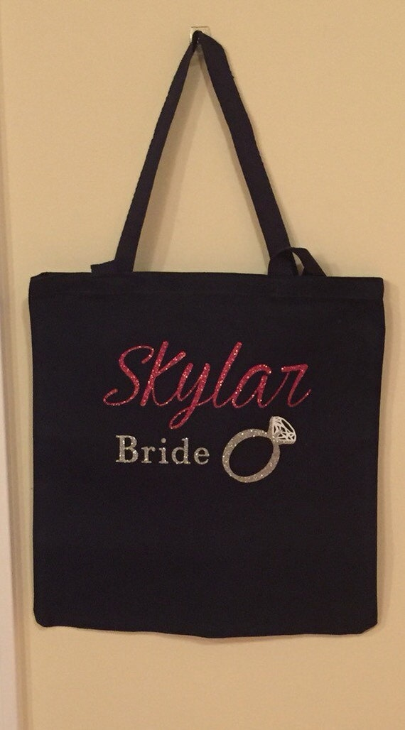 Items similar to For the Bride ! Brides personalized tote ...