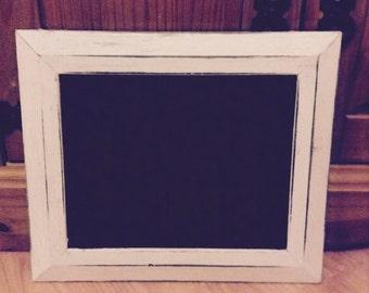 White shabby chic chalkboard