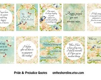 Pride & Prejudice Quote Planner Stickers Erin Condren