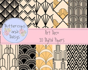 Art Deco Digital Papers