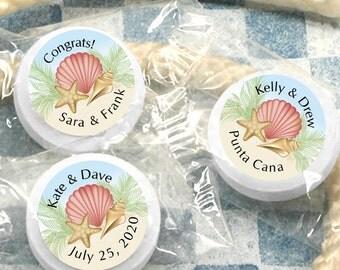 Personalized Summer Sand Life Savers Wedding Favors, Wedding Mints, Mint to Be, Personalized Mints- Set of 100