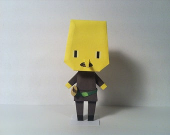 Adventure Time Lemongrab Papercraft
