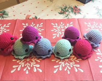 Cute crocheted octopus toys