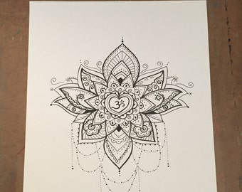 Om Lotus Mandala Original