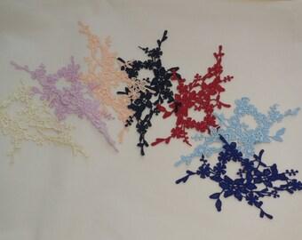 Floral lace applique / dress sewing vintage lace motif is for sale. Various colours. sold by per piece