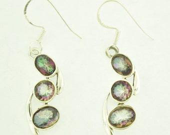 Mystic Topaz in sterling silver Earrings