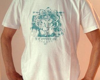 "t-shirt unisex organic cotton yoga ""Ganesha Mantra"""