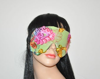 French lace stunning sleep mask, elegant eye mask, lady's mask, sleeping mask, lace