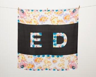 ED POP - Giant Luxury Printed Silk Scarf
