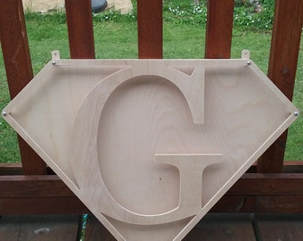 """12"""" 3D personalized superhero sign"""