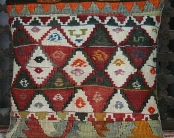 Vintage Kilim Patchwork Cushion Cover