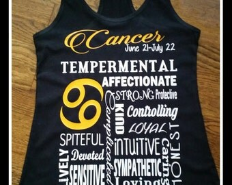 Super Cute and Fun Personalized Zodiac Tank Top Or Tshirt.