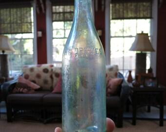 Antique Aqua Colored H. F. Drewes Jersey City N. J. Beer or Soda Bottle