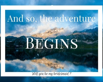 Adventure begins with you