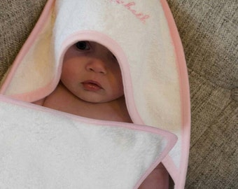 Personalised towel, hooded towel, baby towel, baby bath time, personalised gift, new baby gift, christening gift, baby girl gift, baby robe