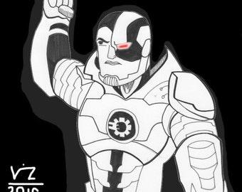 Cyborg -- Original Comic Art
