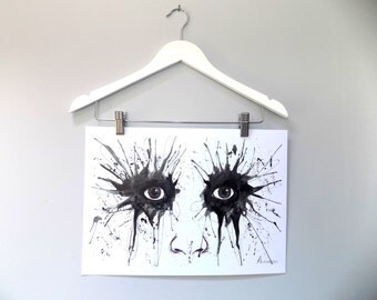 Watercolour Eyes Print A3