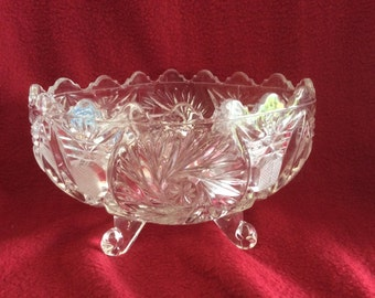 Anna Hutte The House of Walton Lead Crystal footed Bowl