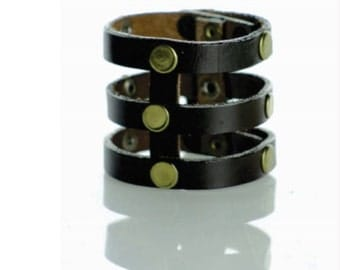 Gladiator style handmade leather bracelet