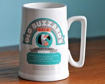 Vintage Old Buzzards Brew Party Express Beer Stein / Ceramic Beer Stein / Party Express Tankard / Large Mug / Beer Stein / Beer Tankard