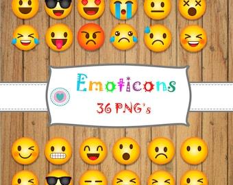 36 EMOTICONS - EMOJI, Smiley face, Emoji Clip art,whatsapp face, Emoji Clipart, feelings clipart, Face Emoticons, clipart,Emoji Face