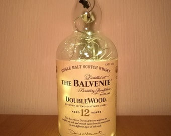 Upcycled The Balvenie 12 Year Whisky LED Light Bottle