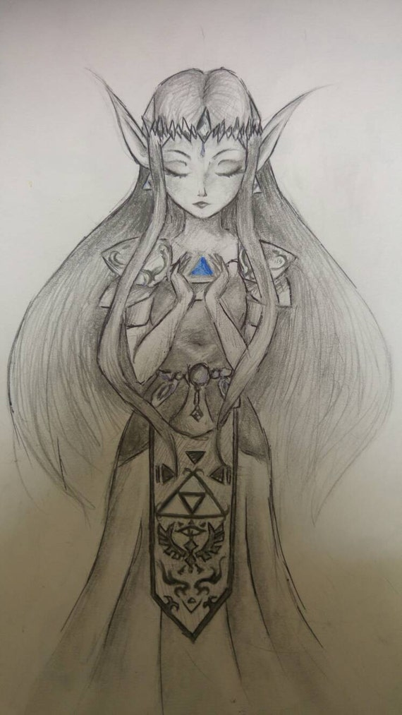 Elf princess Pencil drawing fantasy fairy Pencel sketch
